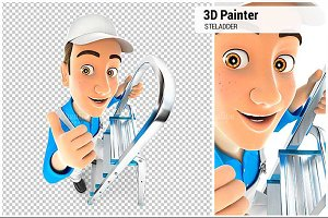 3D Painter on Stepladder