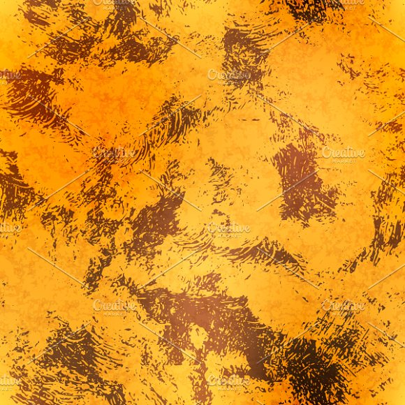 Golden Foil With Rust Pattern