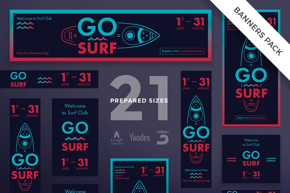 Banners Pack Go Surf