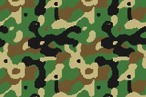 Modern pixelated camouflage