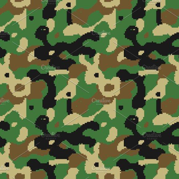 Modern Pixelated Camouflage