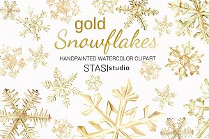 Gold Snowflakes Clipart