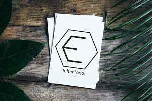 Letter E Insignia Logo Set