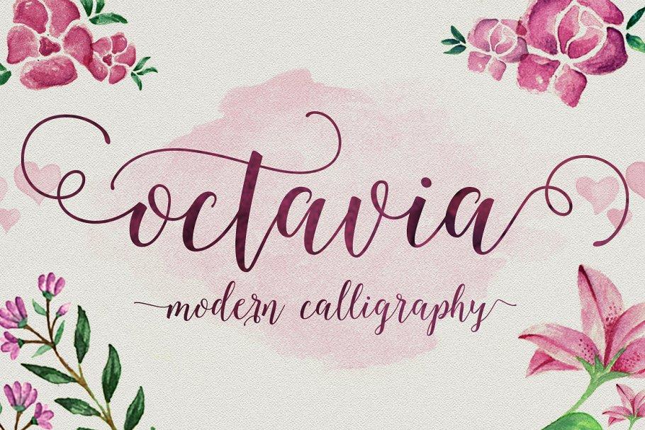 Octavia Script ~ Script Fonts ~ Creative Market
