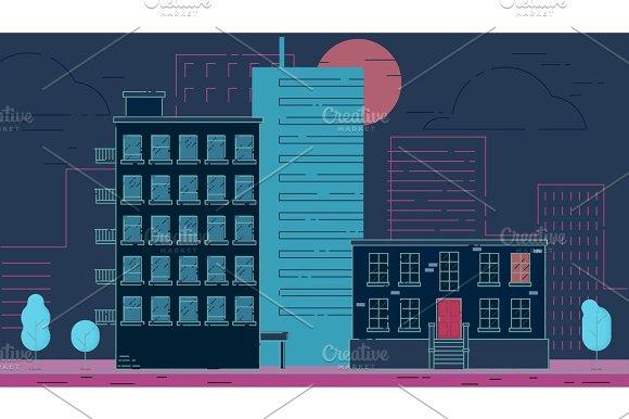 Street City Buildings