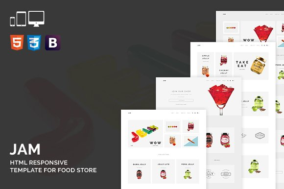 Jam HTML Template For Food Store