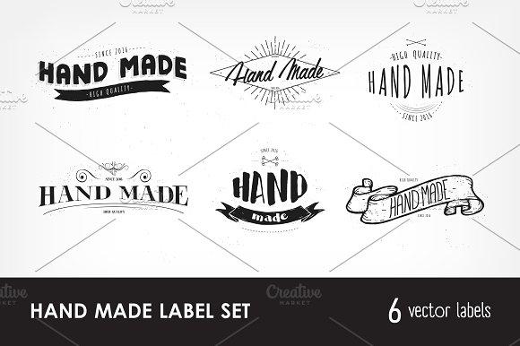 Set Of Emblems With Handmade