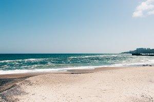 View of an empty beach