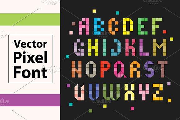 Pixel Vector Alphabet