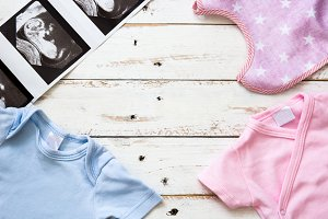 Baby romper and ultrasound baby