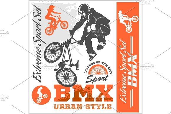 BMX T-shirt Graphics Extreme Bike Street Style Vector BMX Cyclyst
