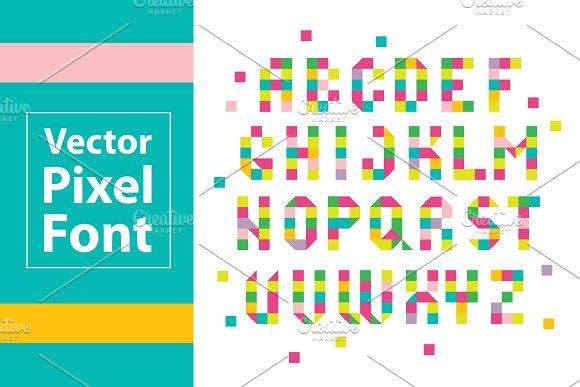 Colorful Pixel Font