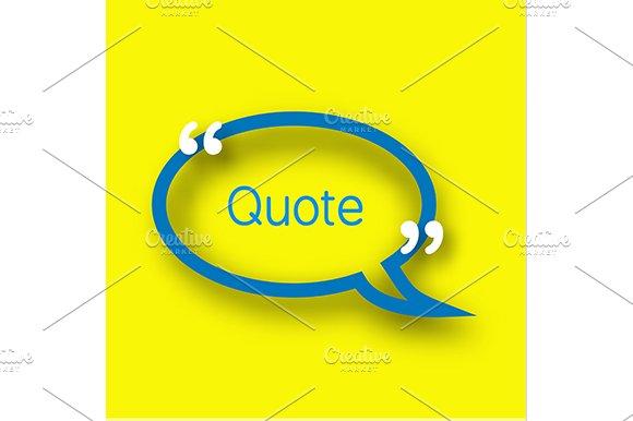 Speech Bubble With Commas Icon