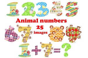 Animal Numbers clipart