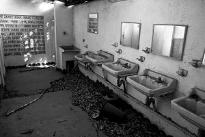 Old and abandoned bathroom