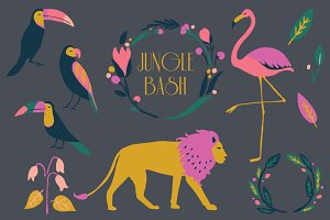 Jungle Bash - Clip Art Set