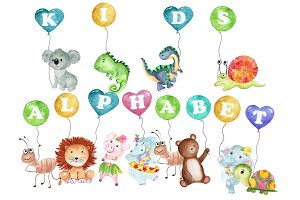 Kids alphabet clipart