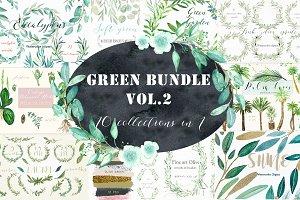 Green Bundle. vol.2. Watercolor