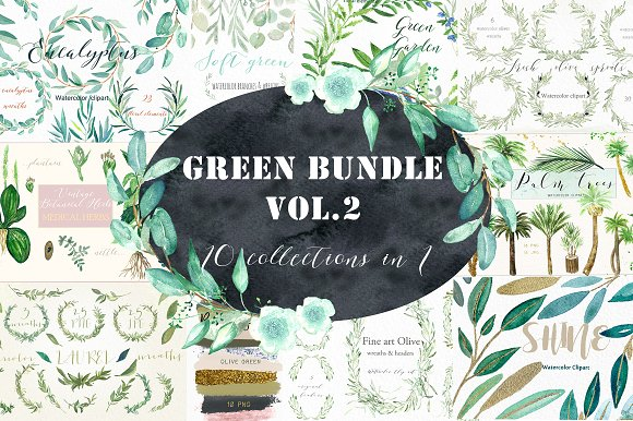 Green Bundle Vol.2 Watercolor