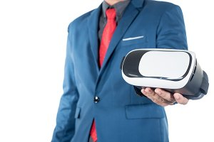 offering virtual reality glasses