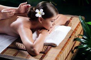 woman and massage