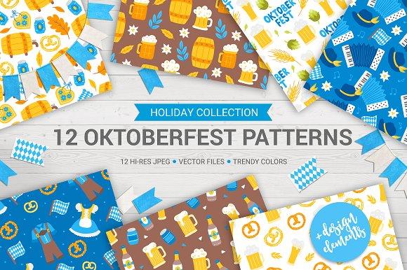 12 Oktoberfest Patterns Bonus Pack