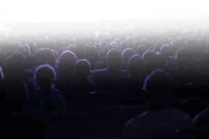 People sitting in an audience