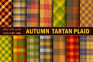 Autumn  Tartan Seamless Pattern