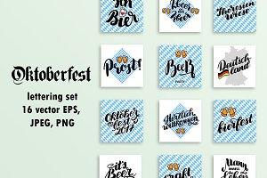 Vector Oktoberfest Set