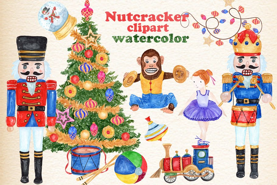 Nutcracker Christmas Tree Clipart.Christmas Nutcracker Kids Clipart Illustrations Creative