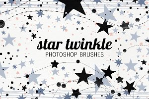 Twinkle Stars photoshop brushes