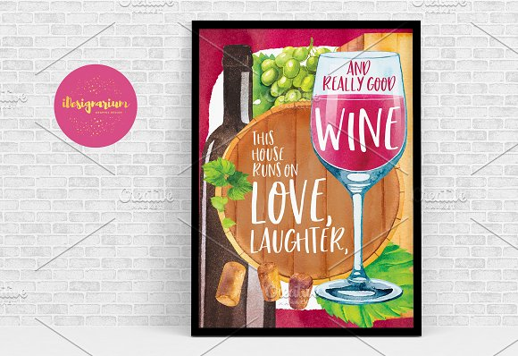 Wine Quote Poster