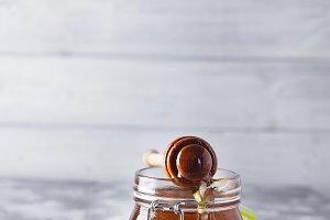 Honey. Dripped honey.