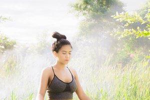 Yoga Meditation on morning day