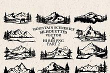 Mountain Sceneries Vector Pack 2