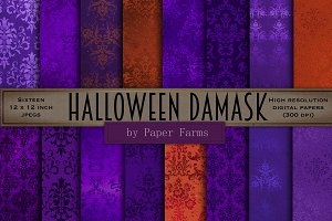 Halloween damask backgrounds