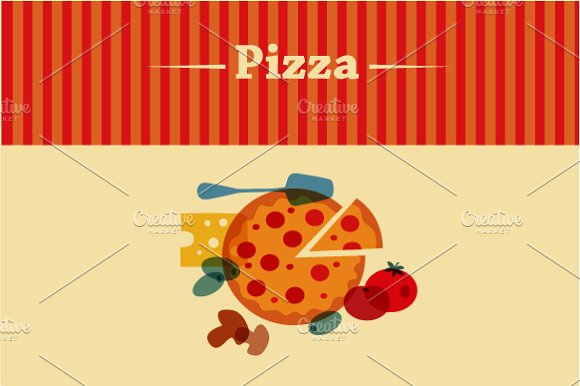 Template Of Pizza Menu Illustrations Creative Market