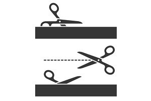 Cutting Scissors Set with Cut Lines
