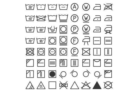 Laundry And Washing Icon Set