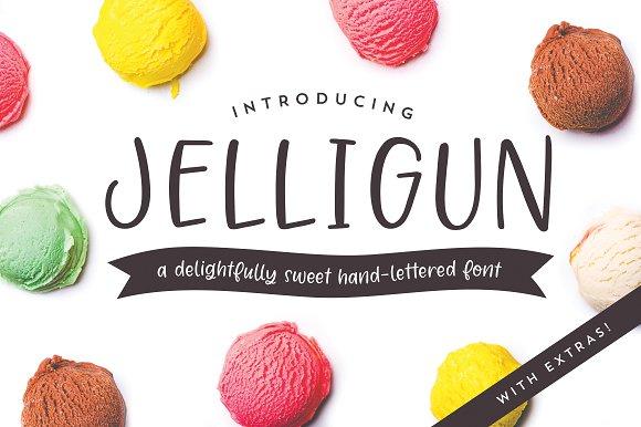 Jelligun Hand-lettered Font