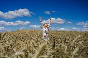 fun in the wheat field