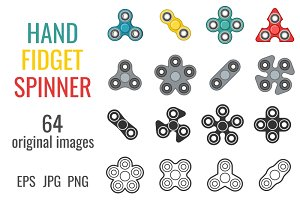 Hand fidget spinner set