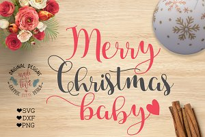 Merry Christmas Baby Cut File