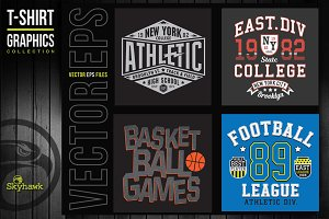 Vectors sport t-shirt graphics