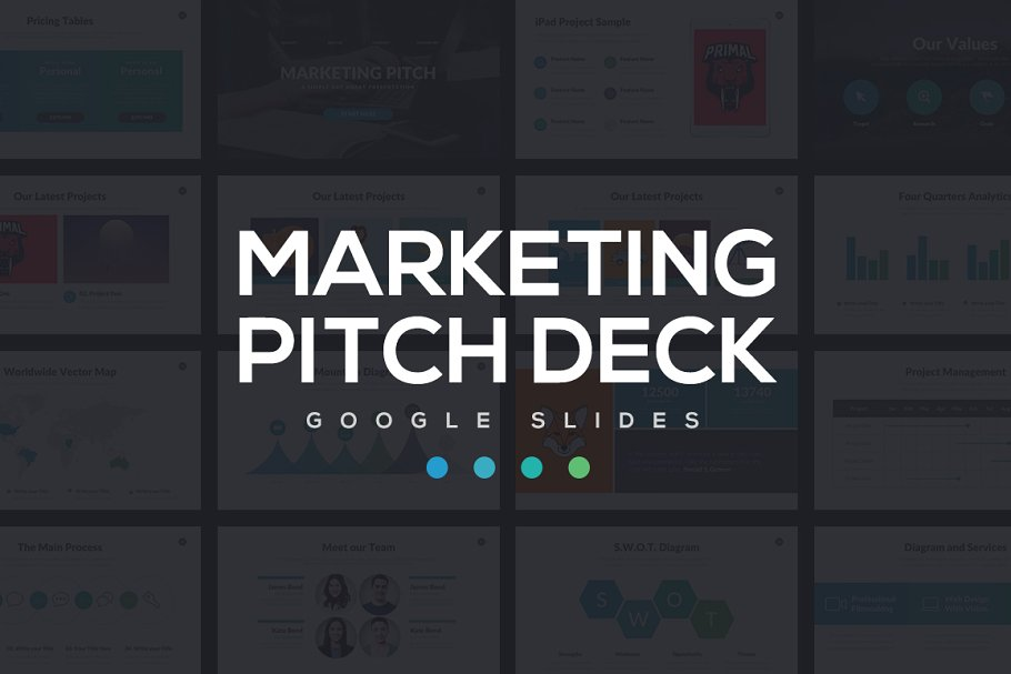 Marketing Pitch Deck PowerPoint ~ PowerPoint Templates ~ Creative Market