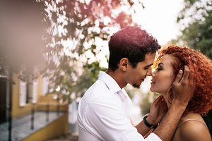 Young couple in a romantic mood