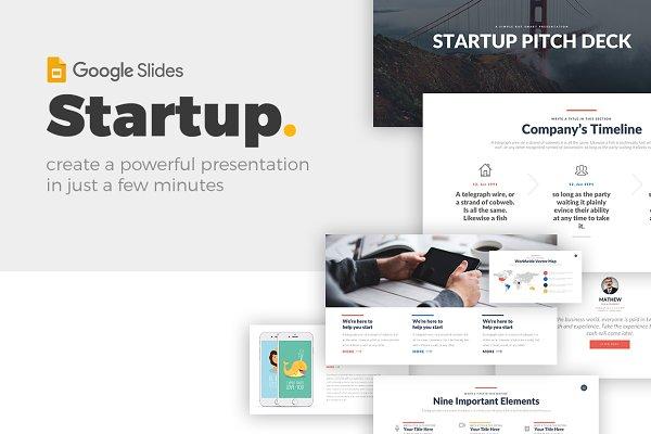 Startup Pitch - Google Slides Theme
