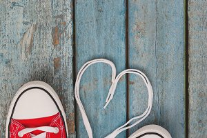Red keds and heart