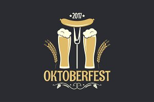 oktoberfest beer glass logo