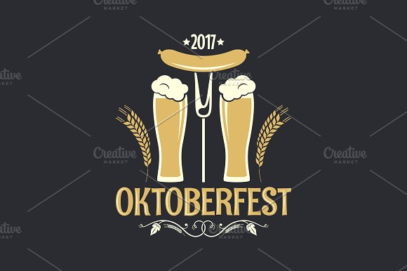 Oktoberfest Beer Glass Logo